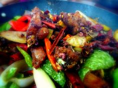 #chinese food: #delicious #dry pot, gānguō 干锅, with #sichuan pepper