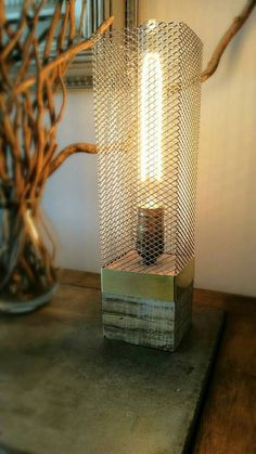 handmade rustic wood lamp wood lamp industrial lamp edison lamp desk lamp