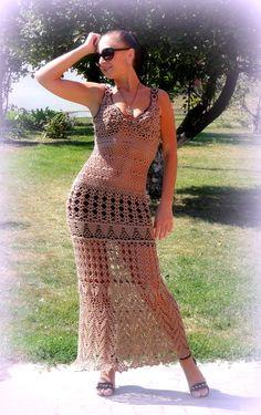 Сарафан крючком.  #crochet_summer_dress