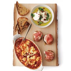 Stock your pantry with the long-lasting ingredients for these tasty appetizers so you can whip up a snack at a moment's notice for drop-in guests and spontaneous get-togethers throughout the season. With cheese, salami, and smoked salmon in the fridge, olives, peppers, and crackers or chips in the pantry, and baguettes or pita bread in the freezer, you'll be ready to party at a moment's notice.