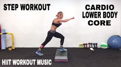 STEP WORKOUT, HIIT, Lower Body, Abs, Core, Fat Burning Cardio Workout WITH ANKLE WEIGHTS - YouTube