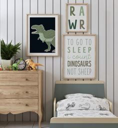 Toddler Boy Room Decor, Toddler Rooms, Baby Boy Rooms, Kids Rooms, Kids Bedroom, Baby Room, Boys Dinosaur Bedroom, Dinosaur Nursery, Dinosaur Kids Room