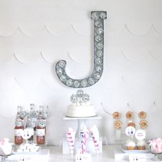 DIY Sparkly Rockstar Style Monogram submitted to InspirationDIY.com