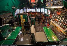 Classic Cockpit of Lockheed L-749 Constellation aircraft
