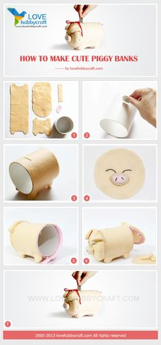 How to make cute piggy banks