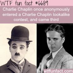Charlie Chaplin - WTF fun fact                                                                                                                                                                                 More