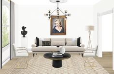 The Black & White Abode Part 3: How To Choose A Sofa | The Havenly Blog
