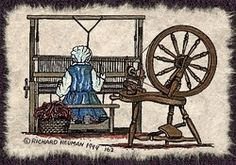 Amish Weaving Loom Spinning Wheel