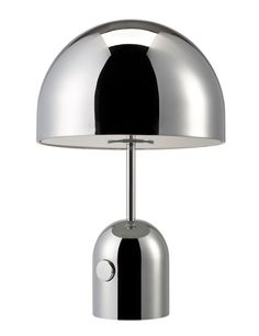 Tom Dixon, Bell table light, 2013. Chrome plated pressed steel.