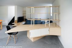 Home office desk and integrate bookshelf by Jo-a #design #furniture #office #architecture