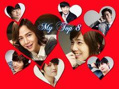Jang Geun Suk, Lee Hong Ki, Shin Sung Rok, Kim Jae Joong, Kim Soo Hyun, Choi Jin Hyuk, Song Jae Rim, Park Si Hoo