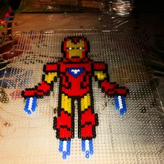 Iron Man perler beads by ygkofficial