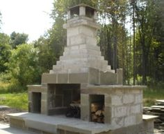 Outdoor Patios U0026 Walkways | HDA Construction, Inc.   Outdoor Cinder Block  Fire Place