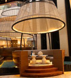 Pan Pacific Singapore 2012 Renovations - Fade Tutorial and Ideas Lounge Design, Lounge Bar, Cafe Design, Restaurant Seating, Hotel Restaurant, Restaurant Interior Design, Cafe Interior, Hotel Lobby, Atrium Hotel