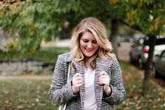 Plaid Coat & Loafers | A Study in Chic