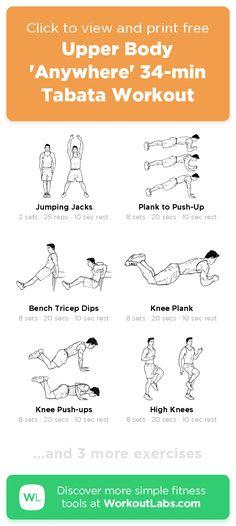 Upper Body Kettlebell Workout, Upper Body Workout Plan, Tabata Workouts At Home, Upper Body Workout For Women, Body Workout At Home, Body Workouts, Boxing Workout, Arms And Back Workout At Home, Upper Body Exercises