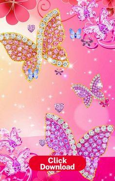 Glitter Phone Wallpaper, Butterfly Wallpaper Iphone, Diamond Wallpaper, Heart Wallpaper, Wallpaper Iphone Cute, Colorful Wallpaper, Galaxy Wallpaper, Cellphone Wallpaper, Flower Wallpaper