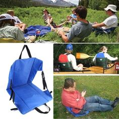 1 pc Outdoor Light Weight Portable Folding Hiking Cushion Beach Grass Camping Chair Fishing Cushion Convenient s2