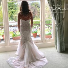 2daec2170e59 Stunning real bride Amy looks amazing in 'Gracie' by Viva Bride ❤️Please  share