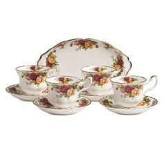 Royal Albert Old Country Roses 9-Piece Teaset Completer Set