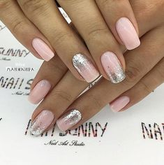 43 Beautiful Prom Nails for Your Big Night Simple and Elegant Nail Design for Short Nails Elegant Nail Designs, Short Nail Designs, Elegant Nails, Stylish Nails, Nail Art Designs, Nails Design, Cute Nails, Pretty Nails, Hair And Nails