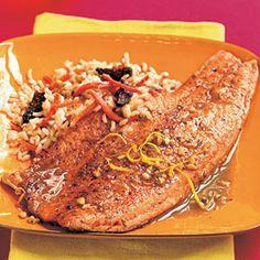 Pan-Seared Tarragon Trout   MyRecipes.com #myplate #protein