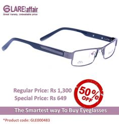 EDWARD BLAZE EBPR2014 GREY EYEGLASSES http://www.glareaffair.com/eyeglasses/edward-blaze-ebpr2014-grey-eyeglasses.html  Brand : Edward Blaze  Regular Price: Rs1,300 Special Price: Rs649  Discount : Rs651 (50%)