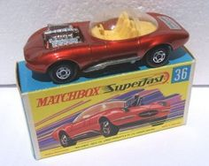 Hot Rod Draguar, número 36b de Matchbox Superfast. Modelo basado en el mítico Jaguar E-Type