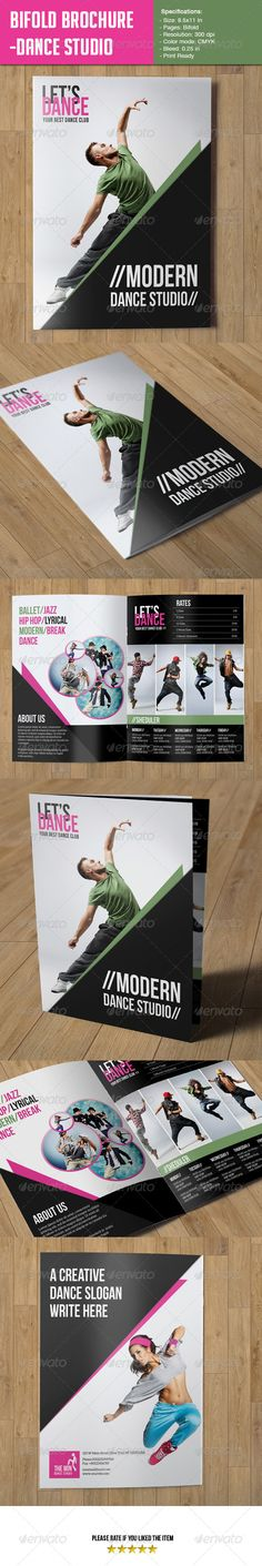 Bifold Brochure-Dance Studio - Corporate Brochures