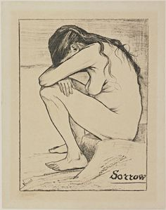 Vincent van Gogh. Sorrow. November 1882. The Hague. Litograph.