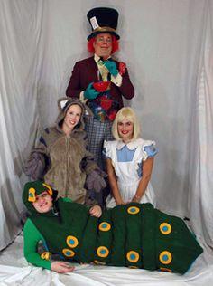 Madhatter, Alice, Cheshire Cat, Caterpillar