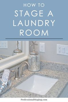 Think your laundry room doesn't need to be staged when you're selling your home? Think again! A cluttered laundry room can be off-putting to buyers, so follow these home staging tips to make sure it doesn't turn them away.