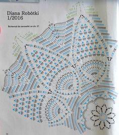 Serweta ze schematu zamieszczonego w magazynie Diana Robótki nr 1/2016.   Zrobiłam ją szydełkiem Tulip 0,85 i kordonkiem Muza 20, kolor n...