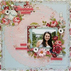 Secret Garden collection from Kaisercraft. Paper Hearts & Peonies: Your Creative Wings July Inspiration Scrapbook Designs, Scrapbook Page Layouts, Scrapbooking Ideas, Scrapbook Journal, Scrapbook Cards, Wedding Scrapbook, Paper Hearts, Scrapbook Paper Crafts, Wings