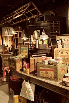 antiques and thrift stores