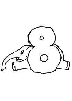 ausmalbild frosch zahl 7 zum kostenlosen ausdrucken und