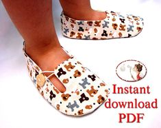 Sewing Pattern for Childrens Loafer Shoes - PDF printable pattern    When you buy this pattern, youll receive an e-mail from Etsy with a download link. Please, check the spam or junk mail folder.  If for any reason (wrong address for example) you dont receive the email with the link, the download will be available on the order page here on Etsy. Go to: Your Account > Purchases> choose the order.  If there are any problems with this download, please contact me via Etsys messaging and Ill...