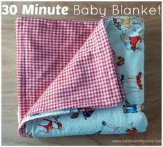 Tutorial: 30 minute flannel baby blanket