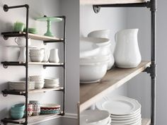 White and Wood Blog – galvanized pipe shelves with 1/2 inch pipie