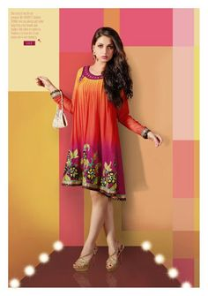 Pink and Purple Goergette Kurti