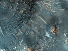 Mars. Tyrrhena Terra Crater with Central Uplift and Hydrated Minerals.
