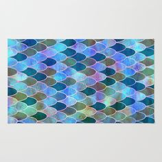 Buy Area & Throw Rugs with design featuring Mermaid by Schatzi Brown and adorn your home with both style and comfort. Available in three sizes (2' x 3', 3' x 5', 4' x 6').