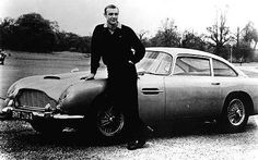 James Bond with his Aston Martin DB5