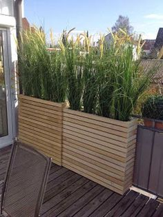 Patio Planters Made From Pallets