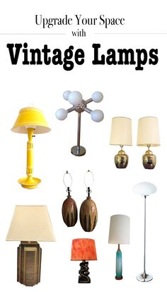 Vintage lamps add character (and often a nice pop of color) that works with any type of decor.