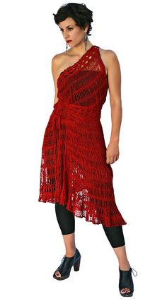 Rockin' dress, I would have to learn how to do hairpin lace though aka super fancy knitting.....looks like a great versatile dress to go dancing in :-)