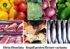 Dieta Disociata – Reguli pentru fiecare varianta Rina Diet, Metabolism, Eggplant, Food And Drink, Health Fitness, Vegetables, Mai, Sport, Per Diem