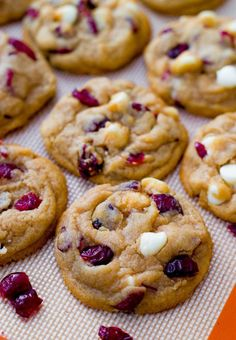 Soft White Chocolate Cranberry Cookies