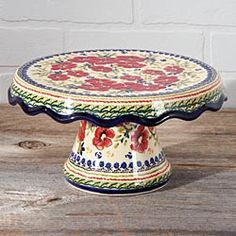 Polish Pottery Cake Stand in Late Autumn 2012 from Artisan Table
