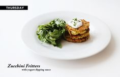 Zucchini Fritters Dinners Are Served: 10 Vegetarian Meals for Less than $50 #theeverygirl